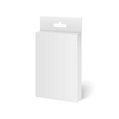 White mock up product package box for pencils, pens. Vector.