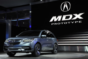 The Acura MDX Prototype is introduced at the North American International Auto Show in Detroit