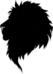 silhouette - head of lion