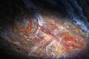 Australian Aboriginal rock art can be seen in a cave near the township of Jabiru located near Arnhem Land