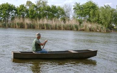 fishing-Fisherman on boat.