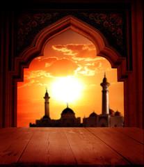 Islamic greeting Eid Mubarak cards for Muslim Holidays.Eid-Ul-Adha festival celebration.
