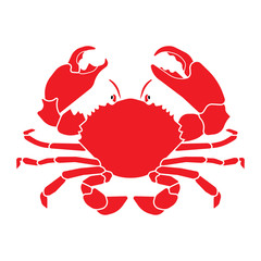 Red Crab, vector illustration