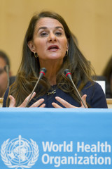 Melinda Gates, Co-chair of the Bill & Melinda Gates Foundation, addresses the 67th World Health Assembly at the United Nations European headquarters in Geneva