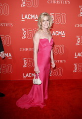 Jamie McCourt poses at LACMA's 50th anniversary gala in Los Angeles
