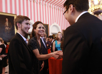 Britain's Catherine, Duchess of Cambridge, takes part in a youth reception at Rideau Hall in Ottawa