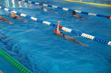 Heat of children in the swimming pool