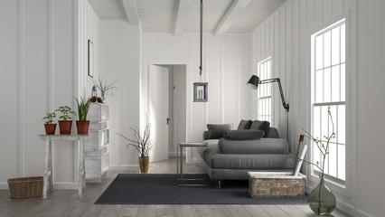 Gemütliches Wohnzimmer im Landhaus Stil mit Holz