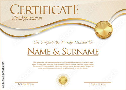 Certificate Collection Retro Design 156356404