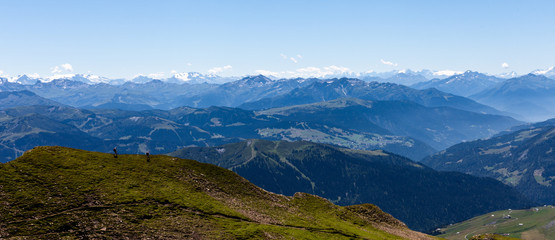 Foto op Plexiglas Panoramafoto s Randonnée en montagne, Haute-Savoie