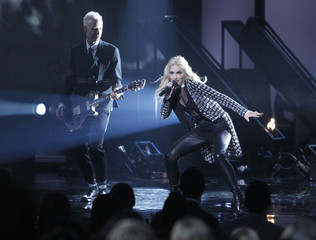 Gwen Stefani of No Doubt performs at the 40th American Music Awards in Los Angeles