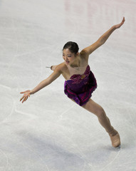 Nagasu skates during the women's short program at the U.S. Figure Skating Championships in Greensboro