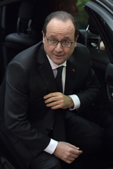 France's President Hollande arrives at a European Union leaders summit in Brussels