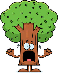 Scared Cartoon Tree