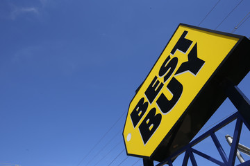 A Best Buy store is seen in Niles, Illinois  near Chicago