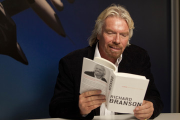 "Richard Branson poses for a portrait in support of his new book, ""Screw Business As Usual"" at the Virgin Offices in New York"