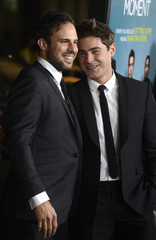 """Tom Gormican and Zac Efron attend premiere of film """"That Awkward Moment"""" in Los Angeles"""