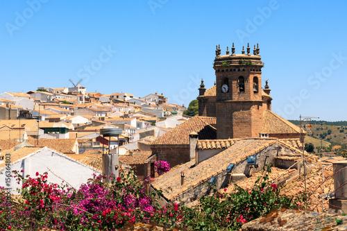 Monumento iglesia san mateo en ba os de la encina ja n espa a photo libre de droits sur la - Banos de la encina espana ...