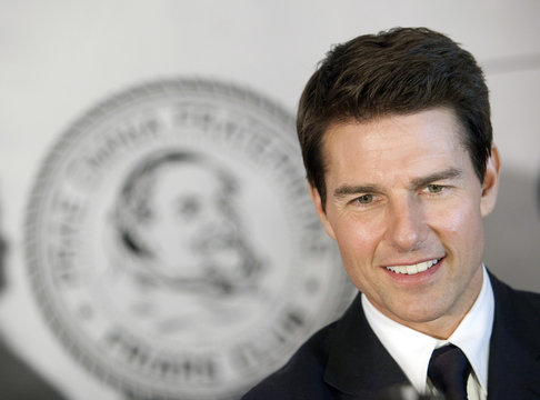 Actor Tom Cruise arrives before The Friars Club and Friars Foundation honored him with the Entertainment Icon Award in New York