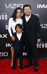 """Justin Lin and his family arrive for the world premiere of """"Star Trek Beyond"""" in San Diego"""
