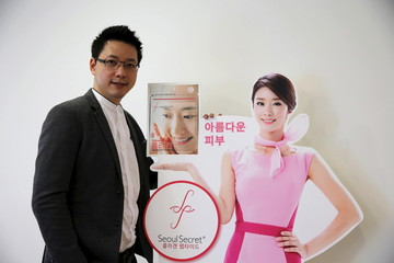 Wattanapak Jinsirivanich, managing director of Yulihan Group (Thailand), the company that produces Seoul Secret beauty products, poses during an interview with Reuters in Bangkok