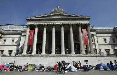 "Fans start queuing in Trafalgar Square for the world premiere of ""Harry Potter and The Deathly Hallows Part 2\"