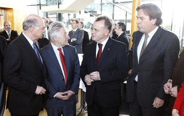 Austrian province governors Proell, Puehringer, Niessl and Voves attend a province governors meeting in Langenlois