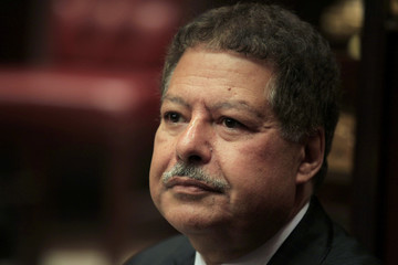 U.S.-Egyptian Nobel prize-winning scientist Ahmed Zewail attends a discussion on Egypt's new constitution at the Shura Council in Cairo