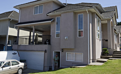 The exterior of the apartment rented to suspects John Nuttall and Amanda Korody is pictured in Surrey