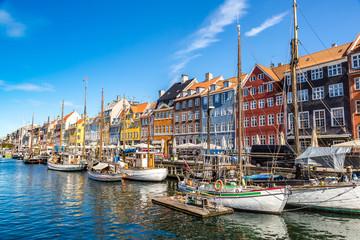 Foto auf Leinwand Skandinavien Nyhavn district in Copenhagen