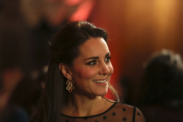 Britain's Catherine, Duchess of Cambridge attends the Place2be Wellbeing in Schools Award at Kensington Palace in London