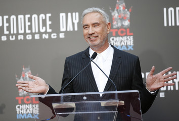 Director Roland Emmerich speaks at his Hand and Foot Print Ceremony in Hollywood