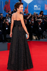 """Actress Carmen Chaplin attends the red carpet for the movie """"Jackie"""" at the 73rd Venice Film Festival in Venice"""