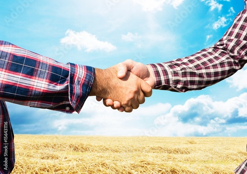 farmers handshake. farm