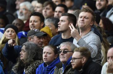 Chelsea fan gestures
