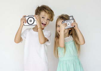 Couple Kids Friend Togetherness Portrait