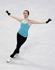 Wagner skates in a practice session during the U.S. Figure Skating Championships in Greensboro
