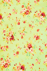 Vintage floral fabric, Fragment of colorful retro tapestry textile pattern with floral ornament useful as background