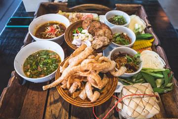 Thai Northern Food set dinner