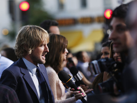 """Cast member Wilson is interviewed at the premiere of """"The Internship"""" in Los Angeles"""
