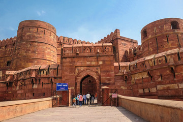 Amar Singh Gate of Agra Fort, Agra, Uttar Pradesh, India Fototapete