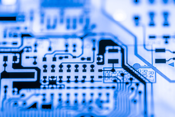 Abstract,close up of Electronic Circuits in Technology on Mainboard computer background 