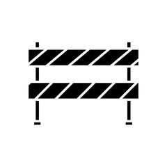 construction barrier icon over white background. vector illustration