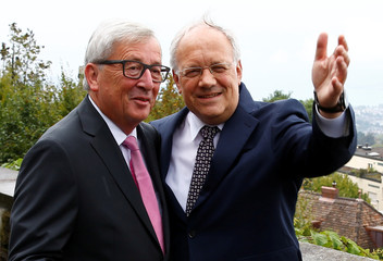 Swiss President Schneider-Ammann welcomes European Commission President Juncker in Zurich