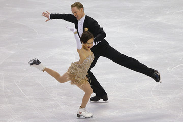 Madison Chock and Evan Bates compete in the ice dance short program competition at the U.S. Figure Skating Championships in Boston
