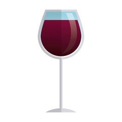 glass cup wine liquor beverage elegant vector illustration