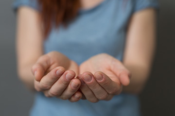 female hands care