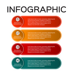 Vector infographics of technology or education process, number options, web design, timeline elements.
