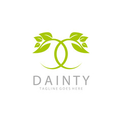 Dainty logo. Royal nature logotype