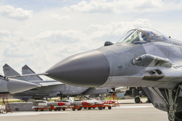 a fighter jet on takeoff